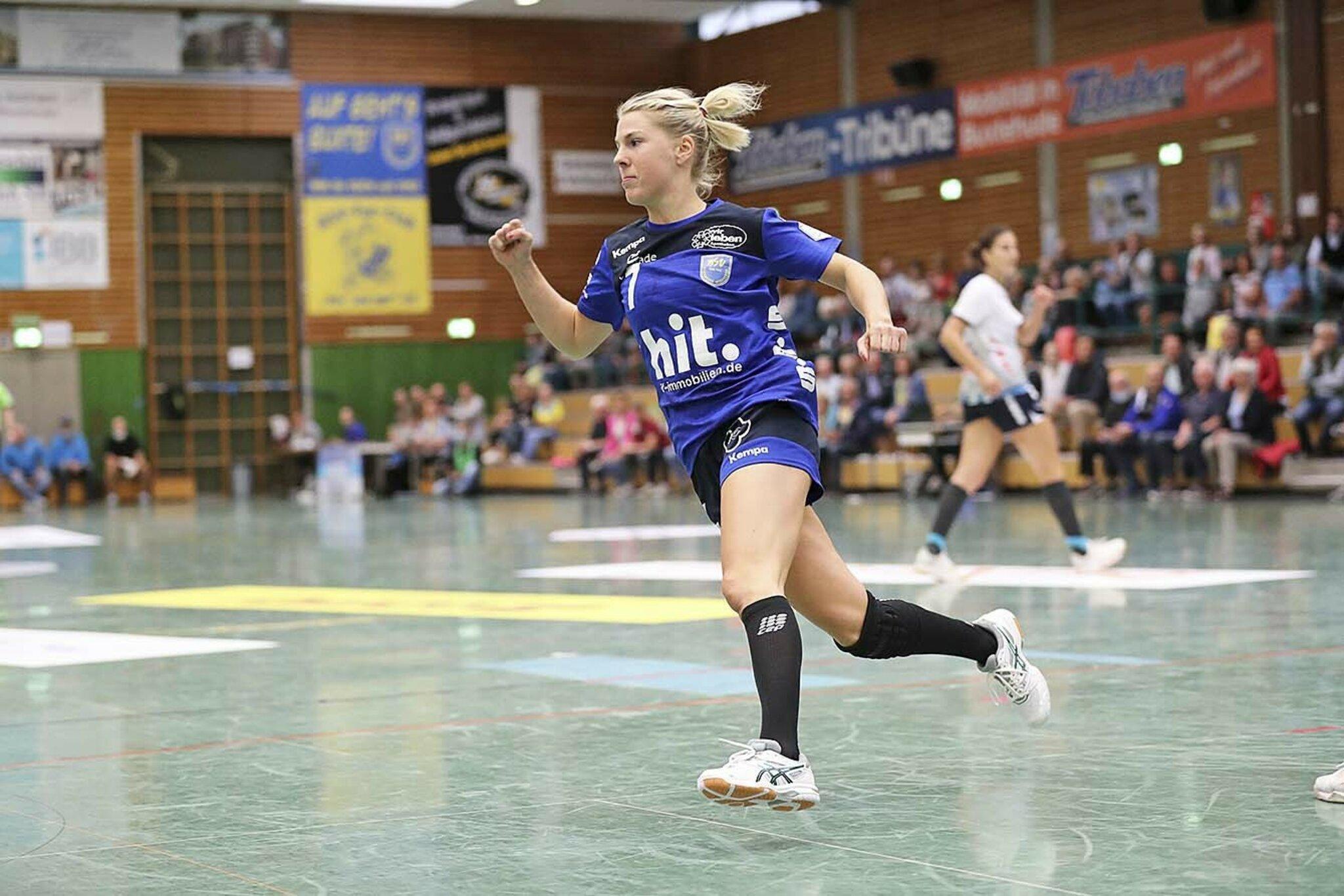 Die Linskaußen absolvierte ihr 292. Spiel für den BSV                                                                  Lone Fischer: Die Buxtehuder Rekordspielerin